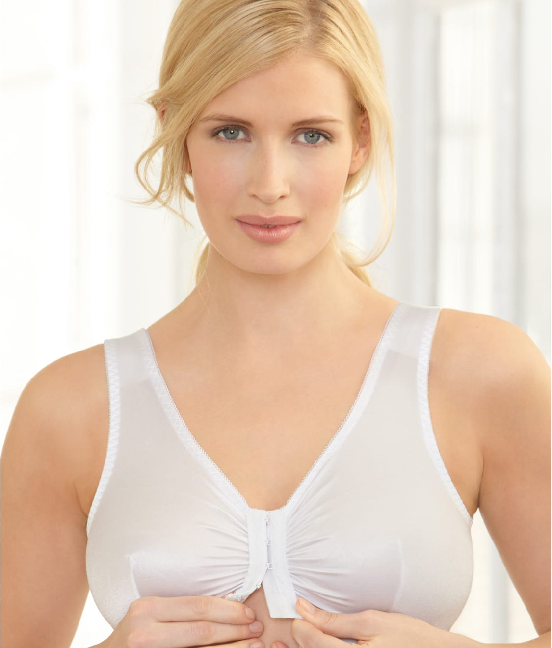 45c648a667b See Complete Comfort Front-Close Wire-Free Sleep Bra in White