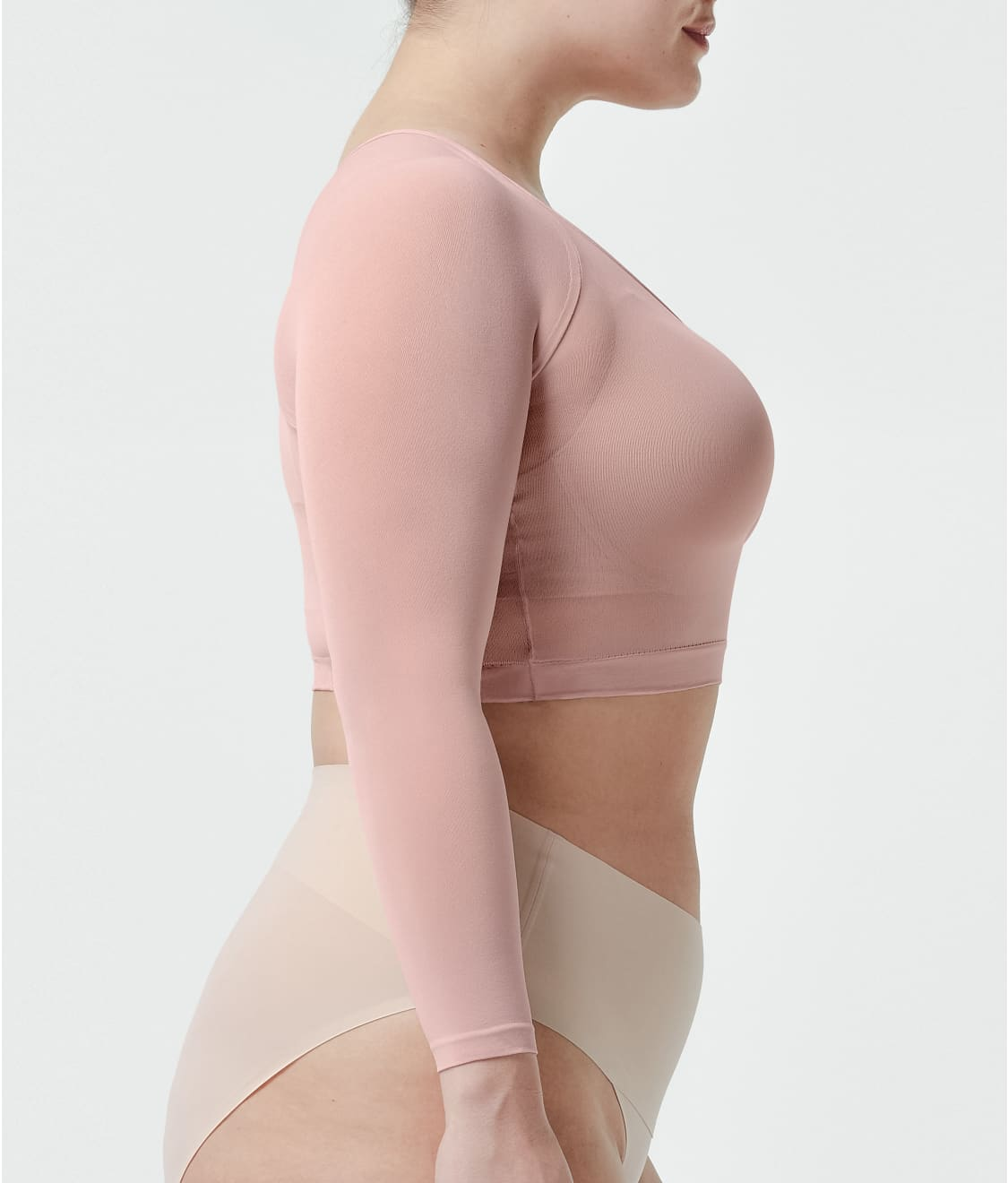 7ae1e6a603a See Plus Size Arm Tights™ Layering Piece in Rosy Pink