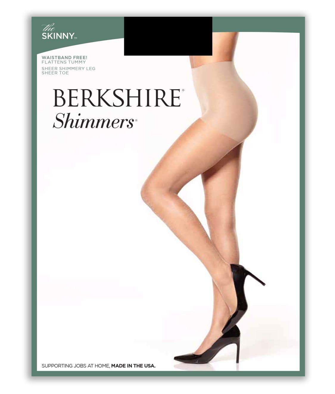 Berkshire Nylons Pantyhose Shimmers Flattens Tummy Sheer Shimmery Leg #5019 NEW