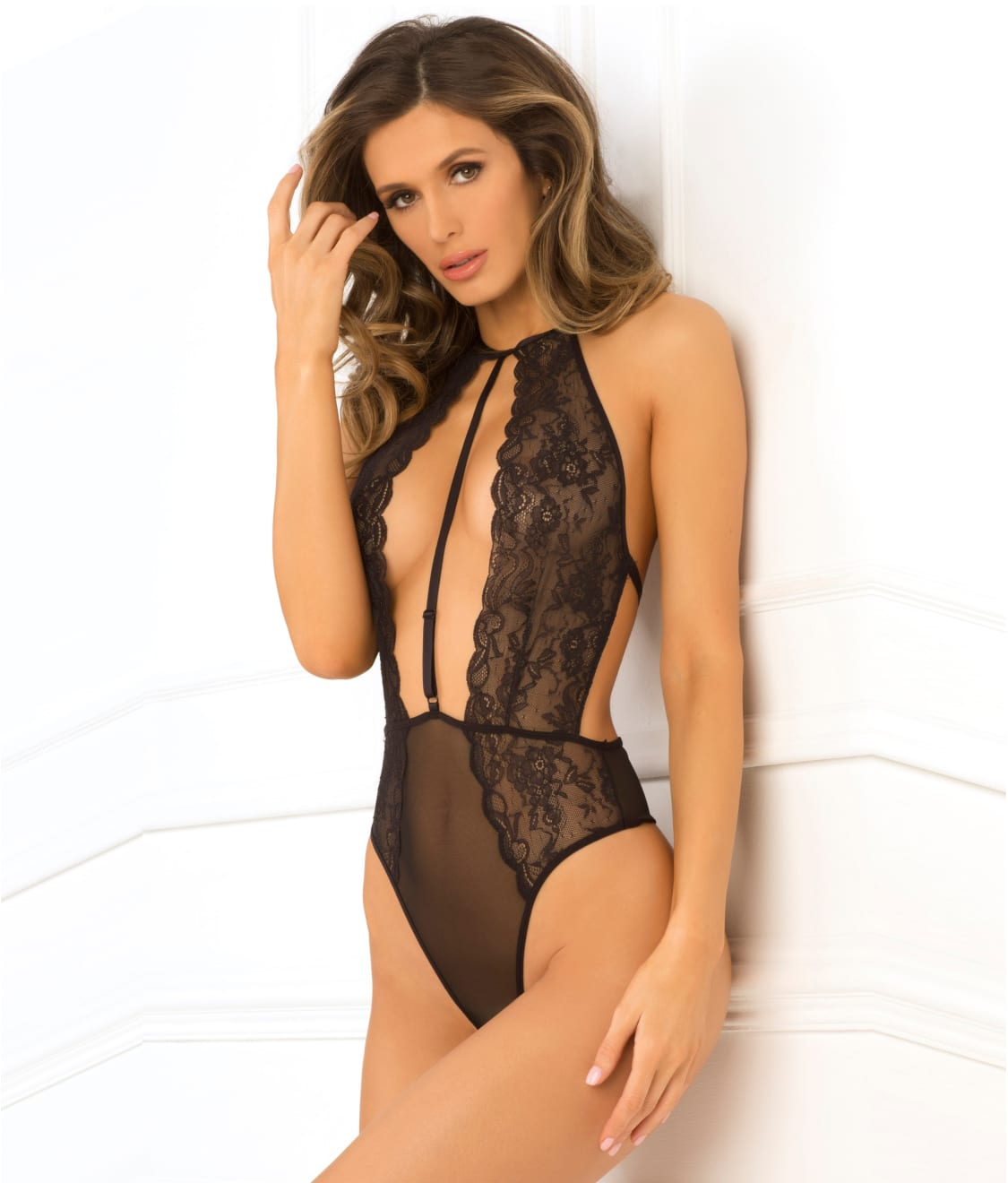 50a4584bd9 Rene Rofe Hot Pursuit Wireless Lace Teddy