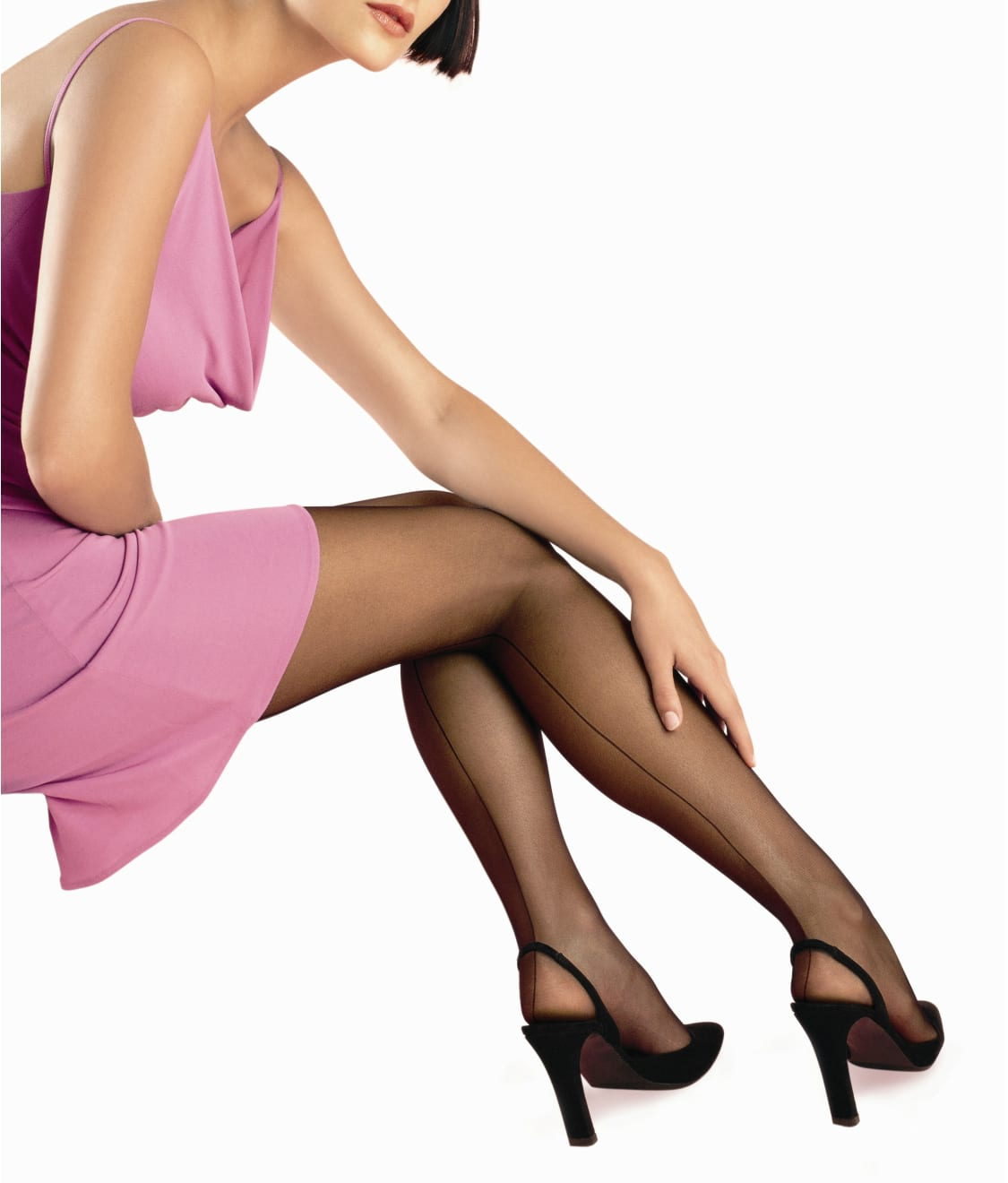 395b8d7a7e80a0 HUE SO SEXY Back Seam Control Top Pantyhose | Bare Necessities (6038N)