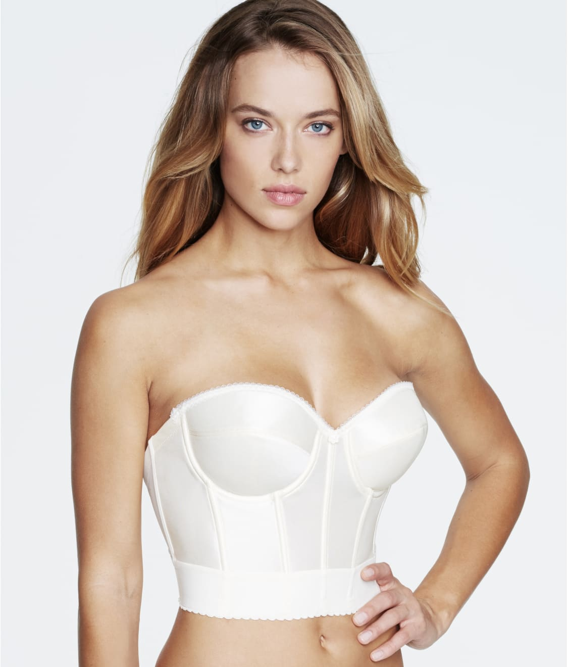 Dominique WHITE Strapless Convertible Smooth Control Bodysuit US 42B