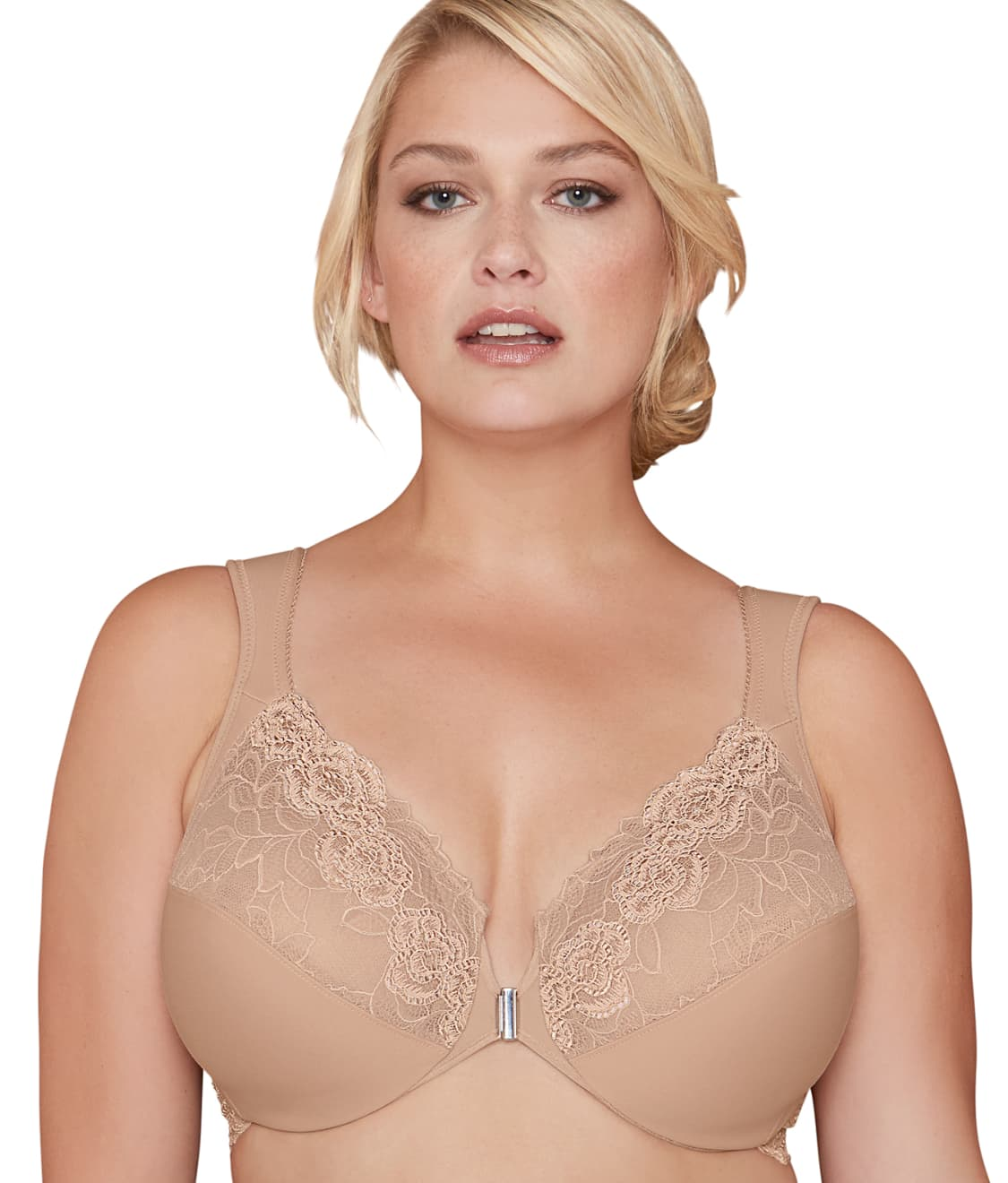 ceac18b077 See Brooklyn Front-Close Bra in Nude