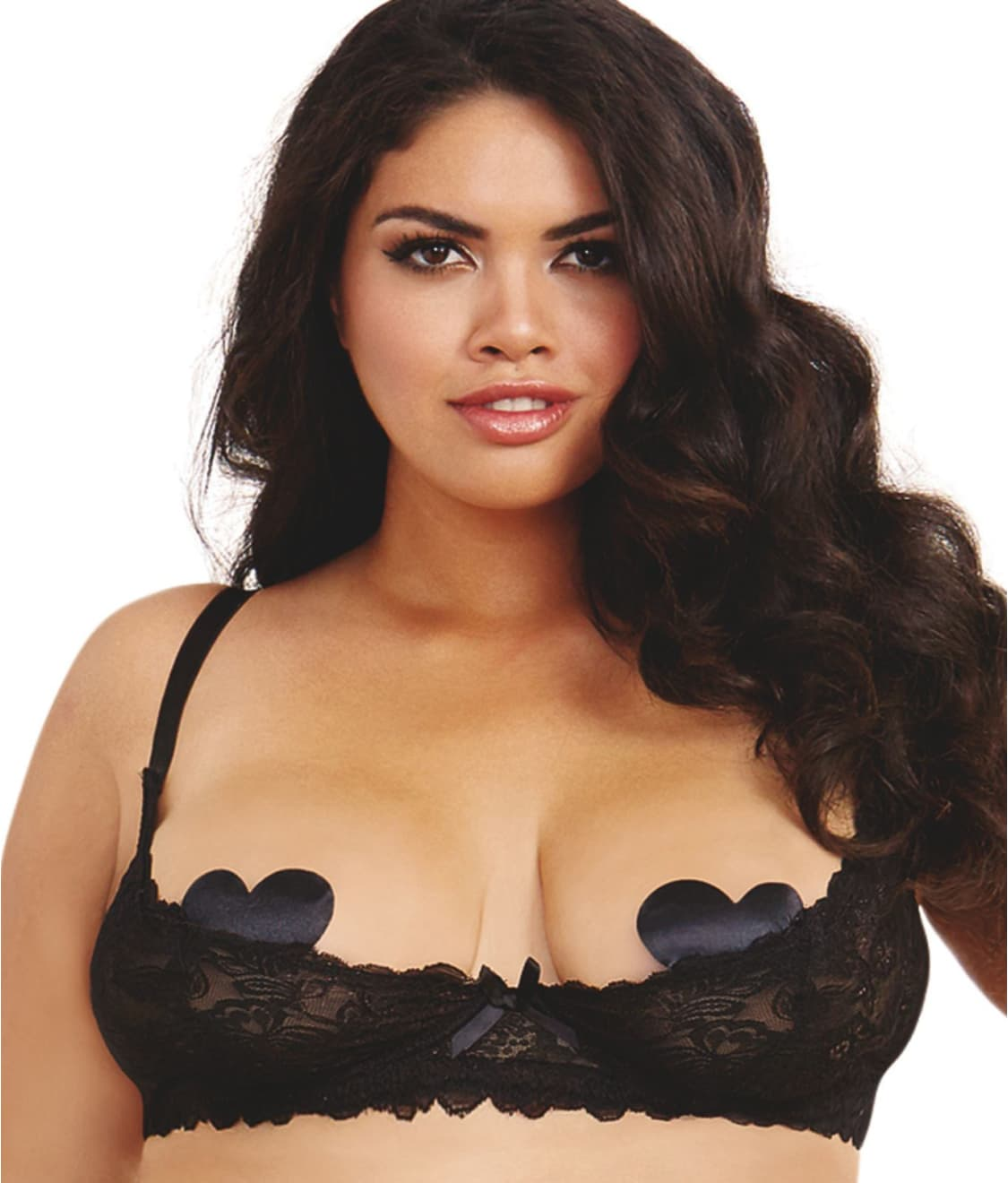 322bf53bd38f8 Dreamgirl Plus Size Open Cup Shelf Bra