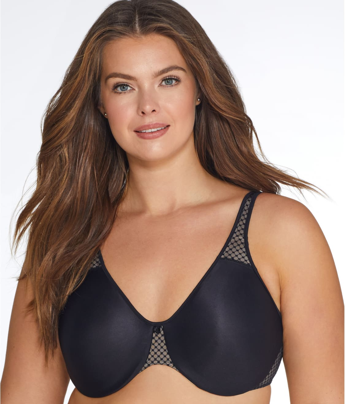 b0ca0a351aa76 See Passion for Comfort Minimizer Bra in Black   Nude
