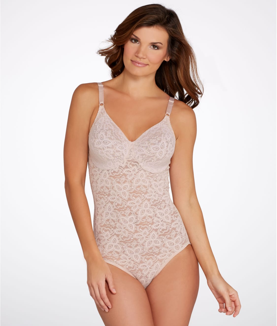 8f0992730c1 See Lace  N Smooth Firm Control Bodysuit in Rosewood