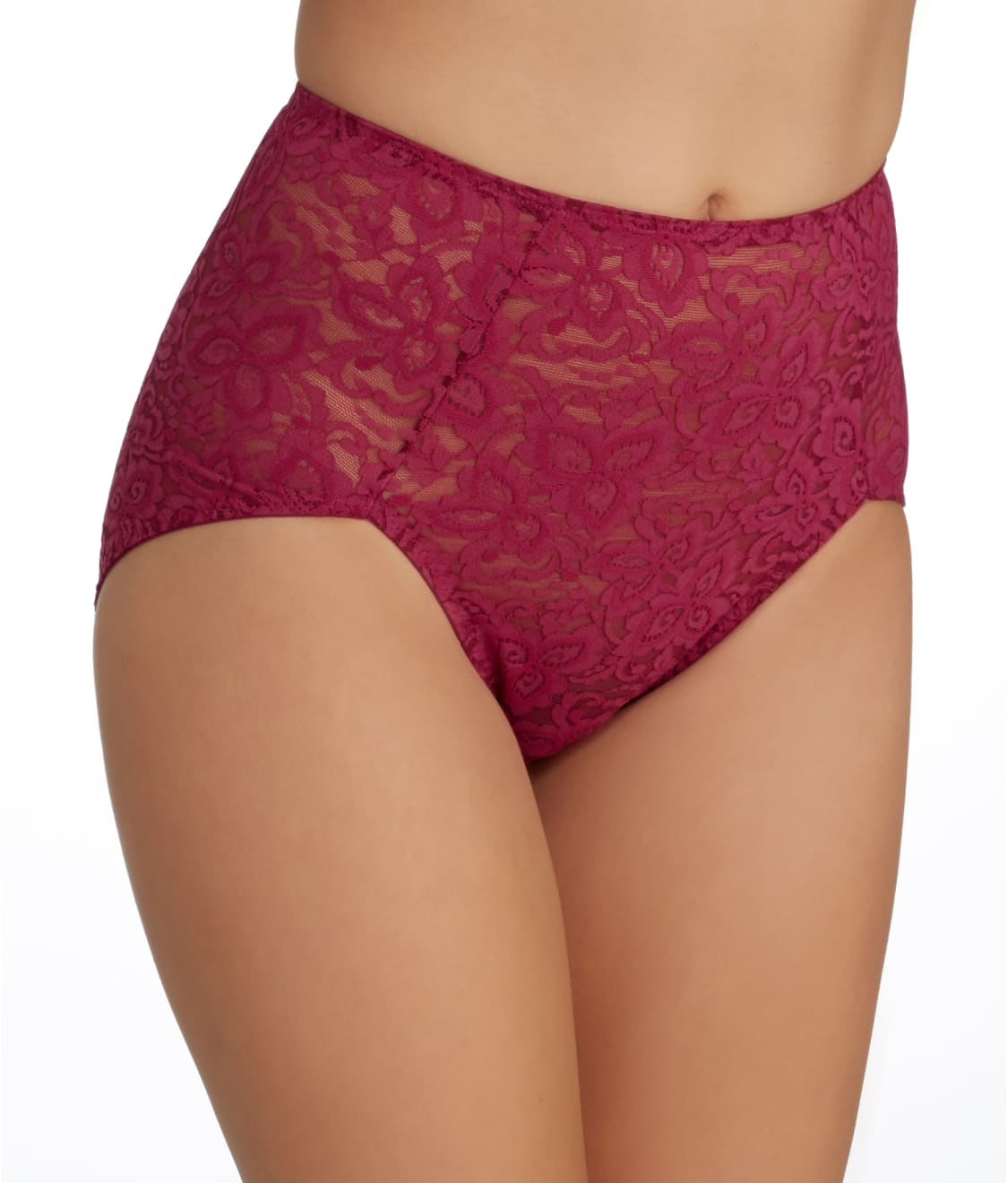 a5d034ff5 See Lace  N Smooth Firm Control Brief in Deep Cherise