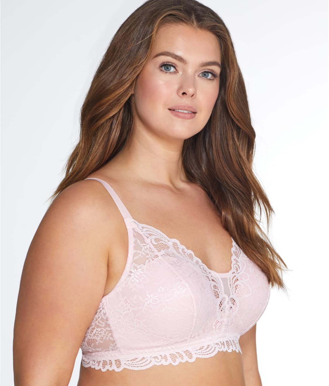 6a5076a2d0 See Lace Desire Convertible Wire-Free Bra in Gentle Peach