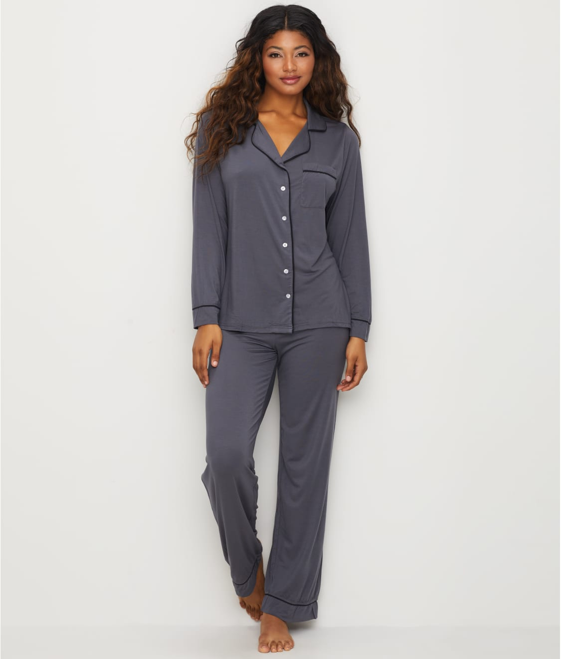 205bc6eb7b Barefoot Dreams Luxe   Milk Jersey® Piped Pajama Set.  130.00. FREE 2-DAY  SHIPPING