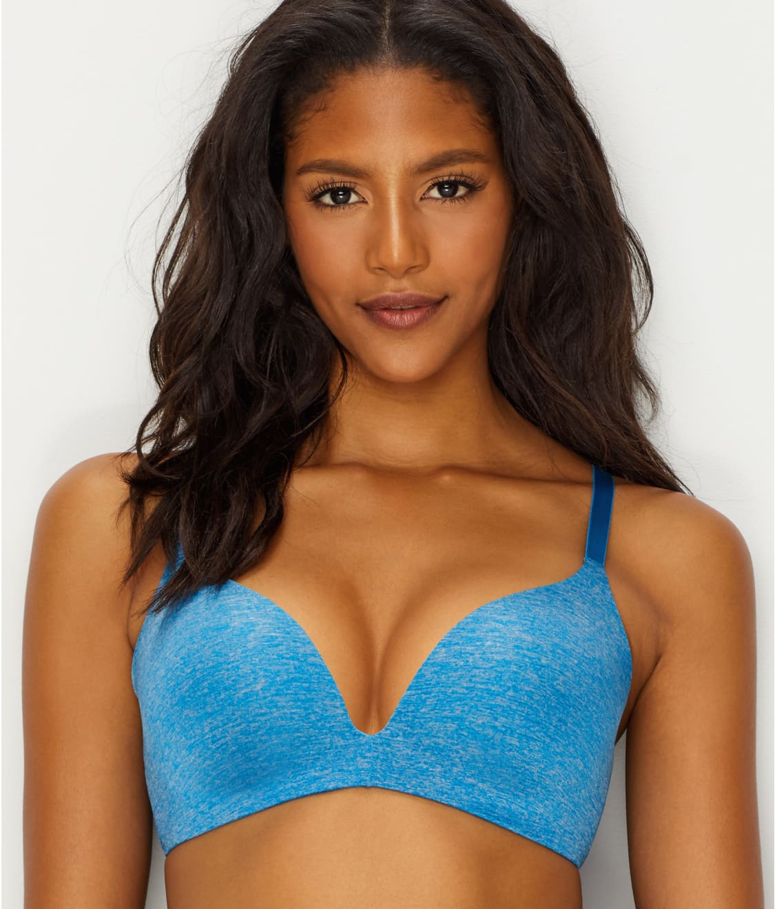 5b4aaa202 See b.splendid Wire-Free Push-Up Bra in Mykonos Blue Heather