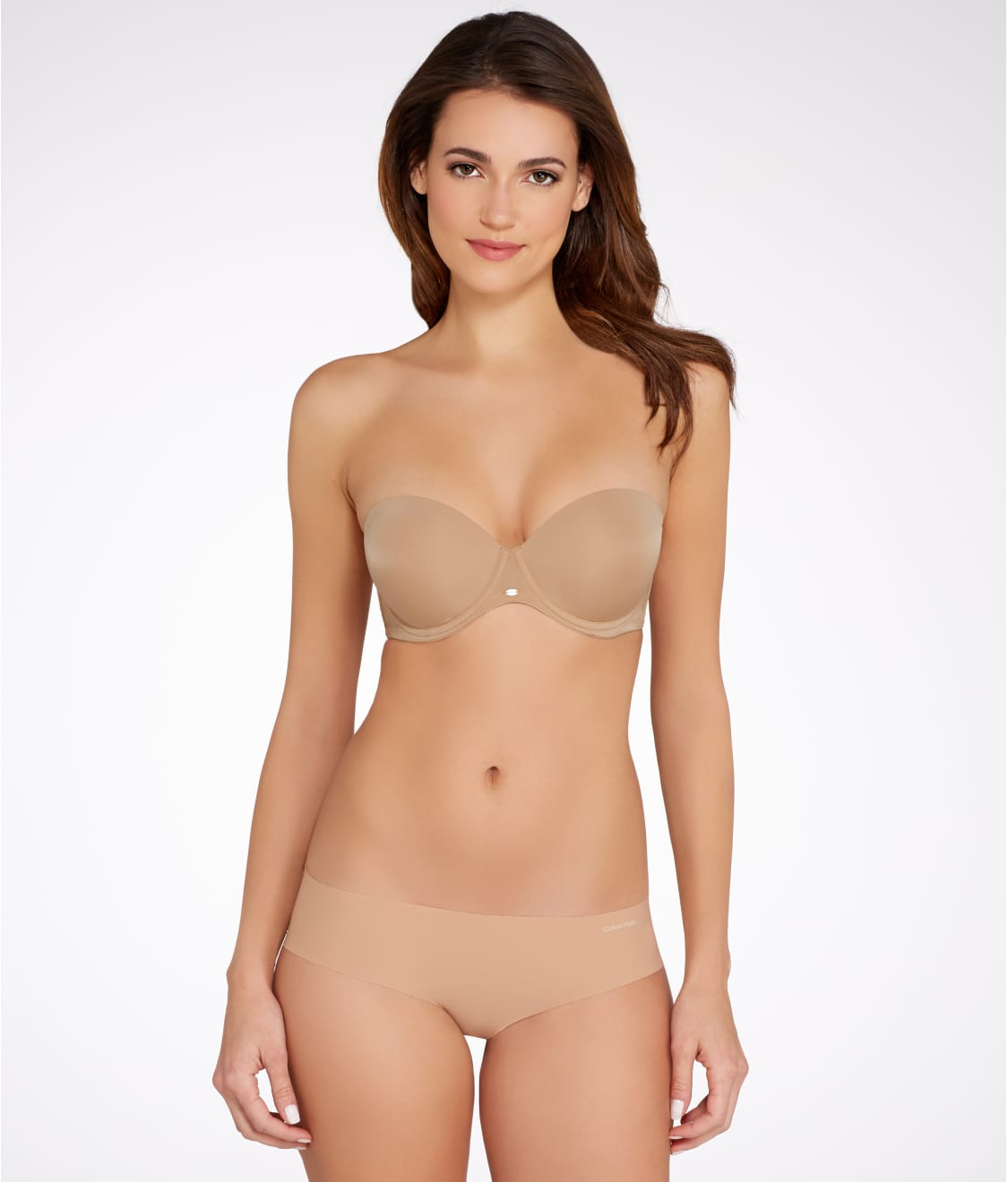Calvin Klein Naked Glamour Strapless Push-Up Bra F3493 at ...