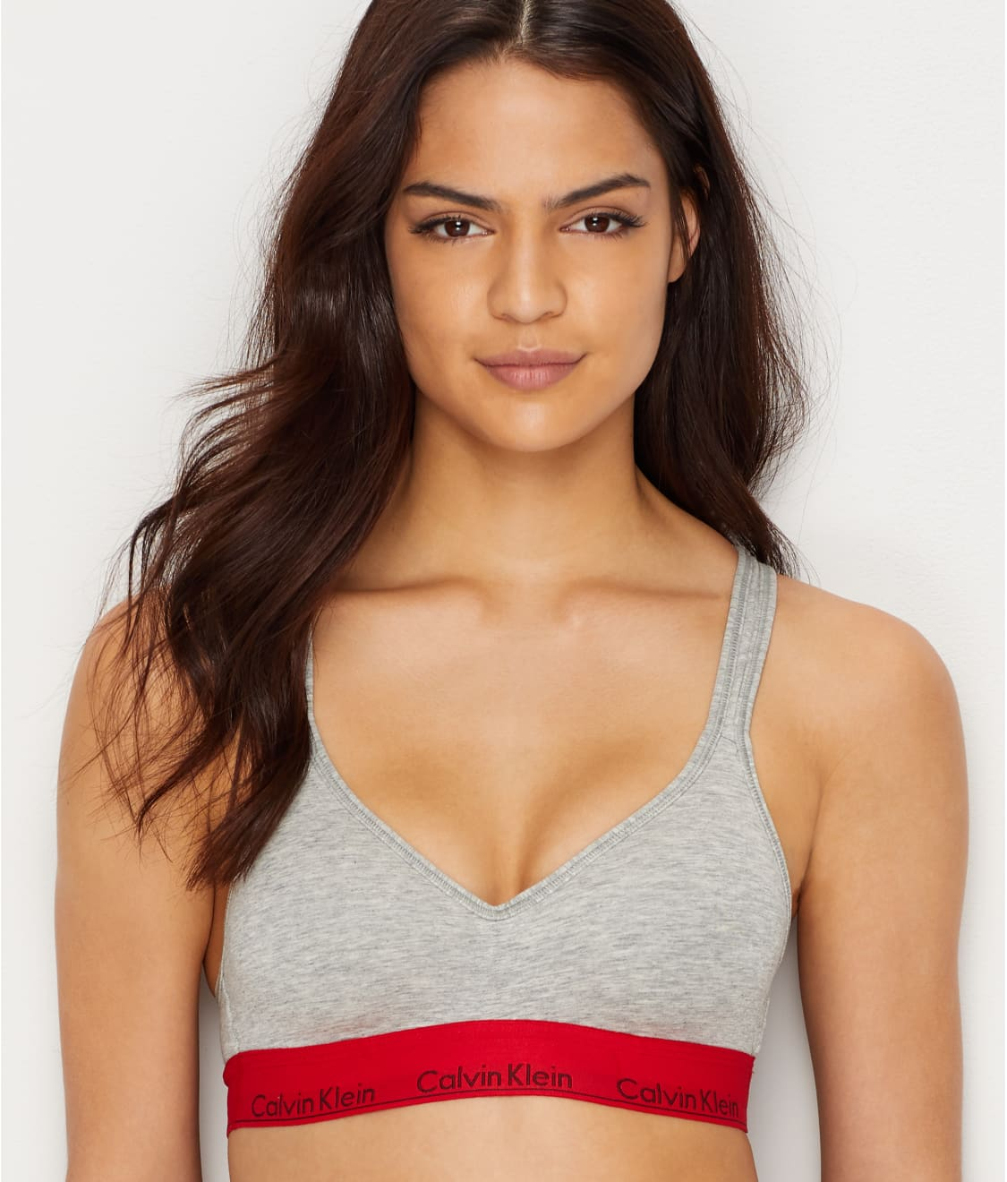 667efaecd2 See Modern Cotton Padded Bralette in Grey Heather   Red