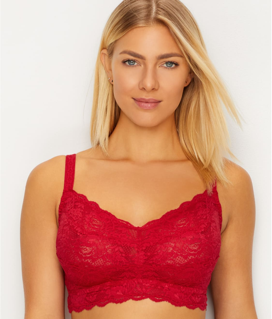 12749639498ed See Never Say Never Sweetie Curvy Bralette in Mystic Red