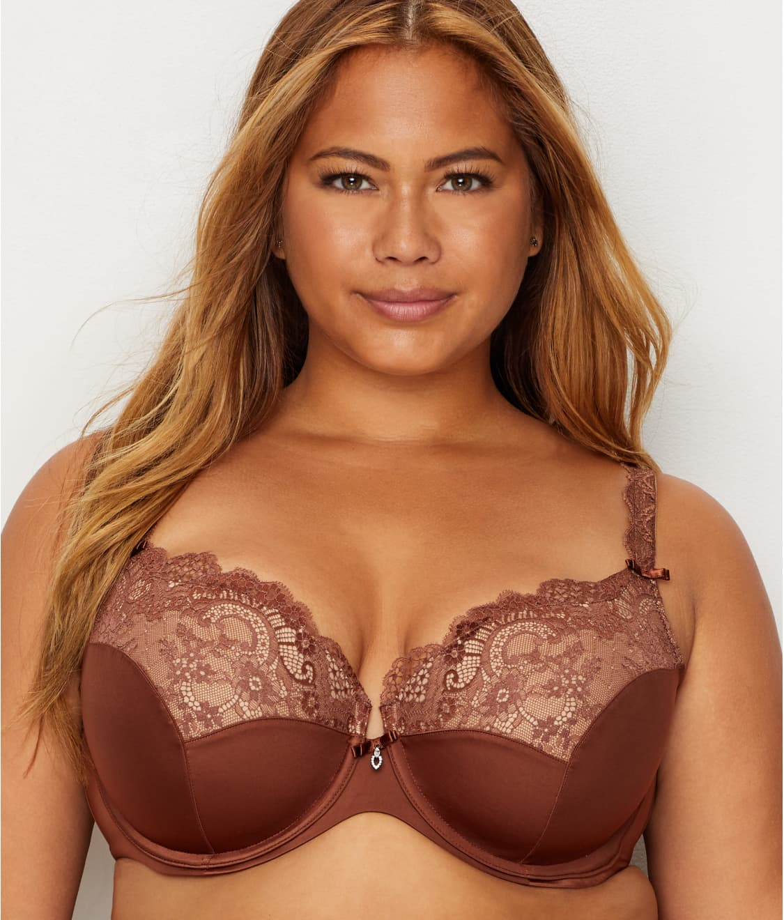 Details about  /Curvy Couture Tulip Lace Push-Up Demi Bra Style 1017