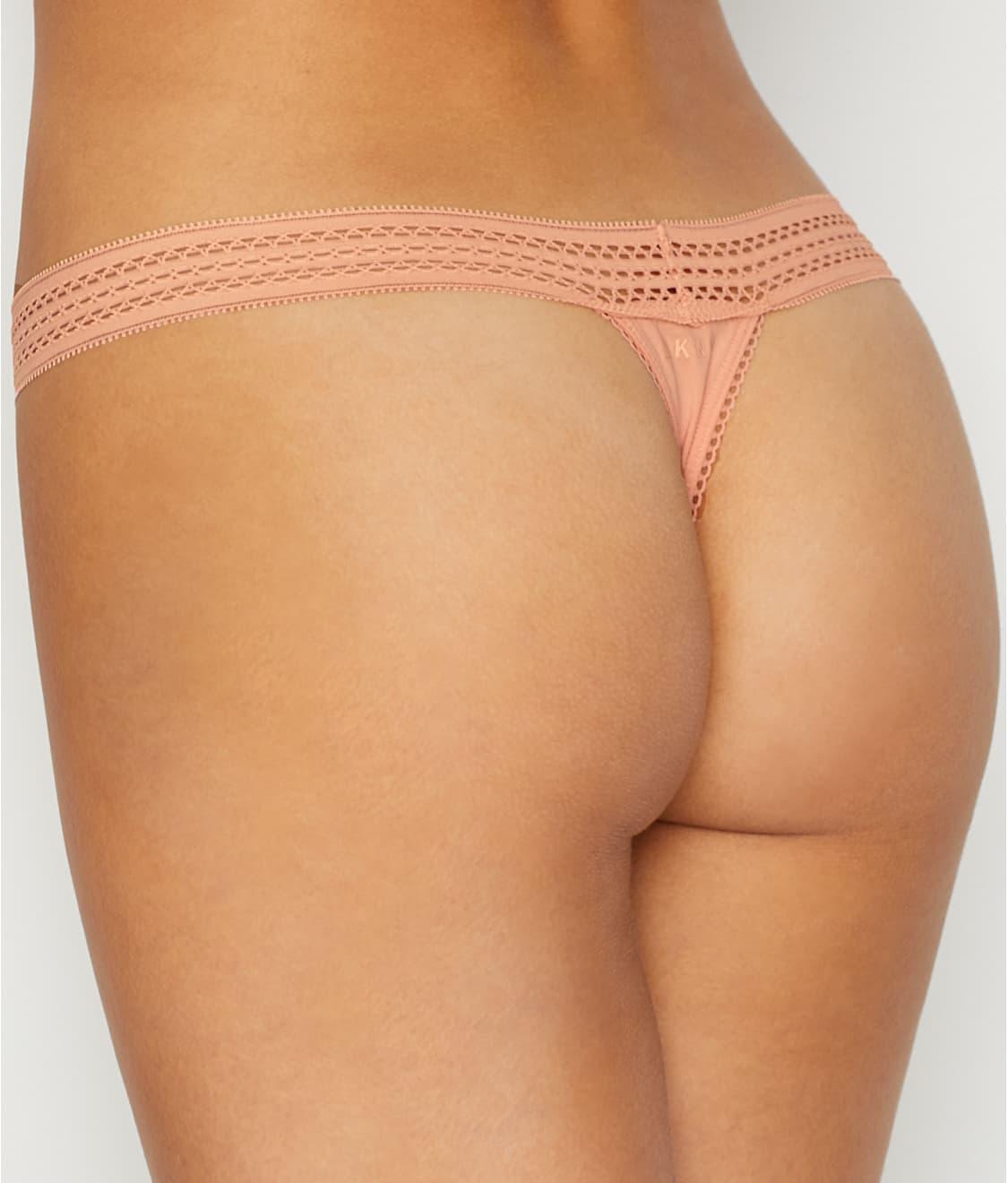 Dkny White Thong Panties HD