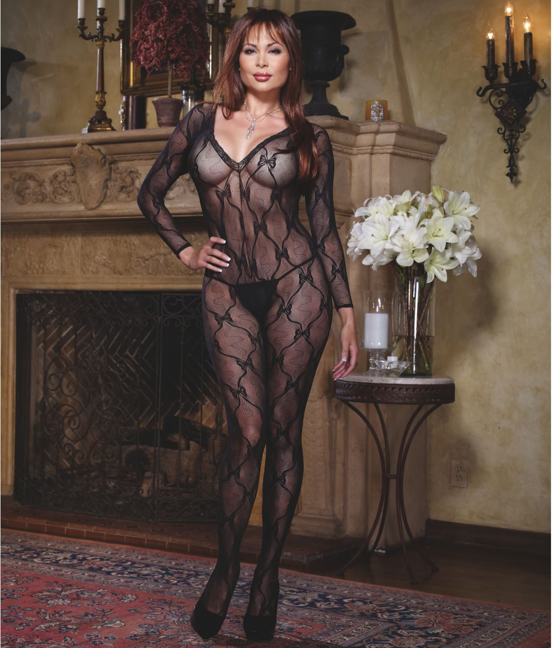 103c594f0 Dreamgirl Plus Size Lace Bodystocking