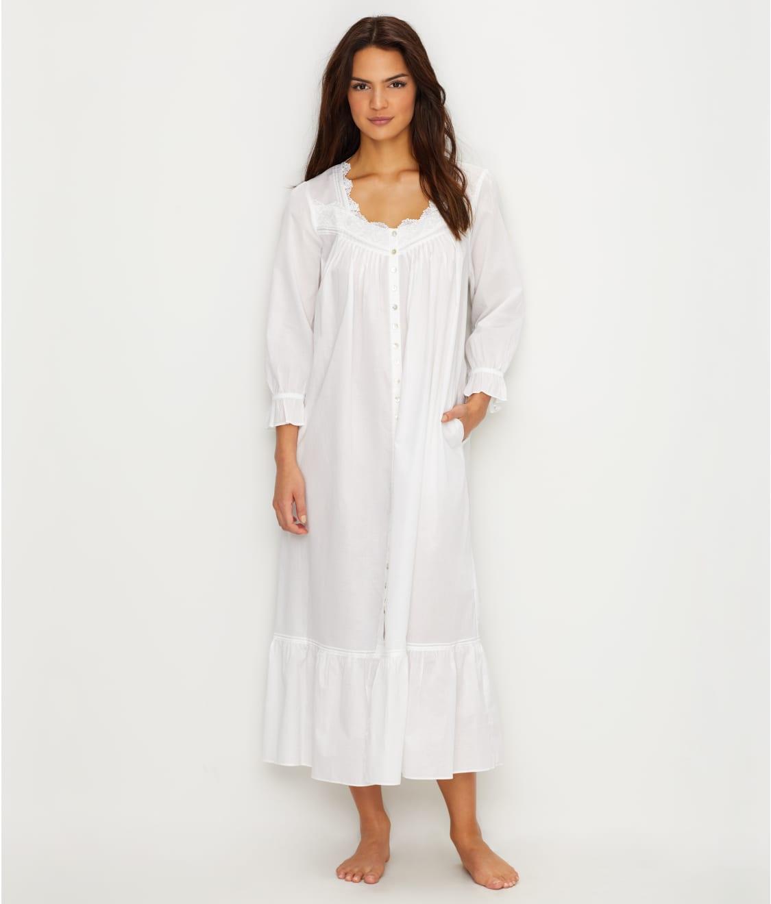 Eileen West Lawn Ballet Button Down Woven Night Gown  490121edf