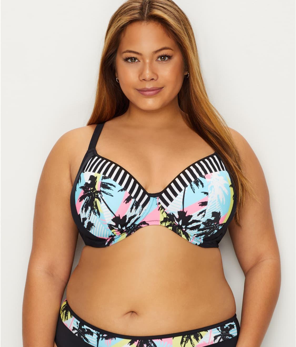8ad890fdd5409 Elomi Plus Size Malibu Days Plunge Bikini Top