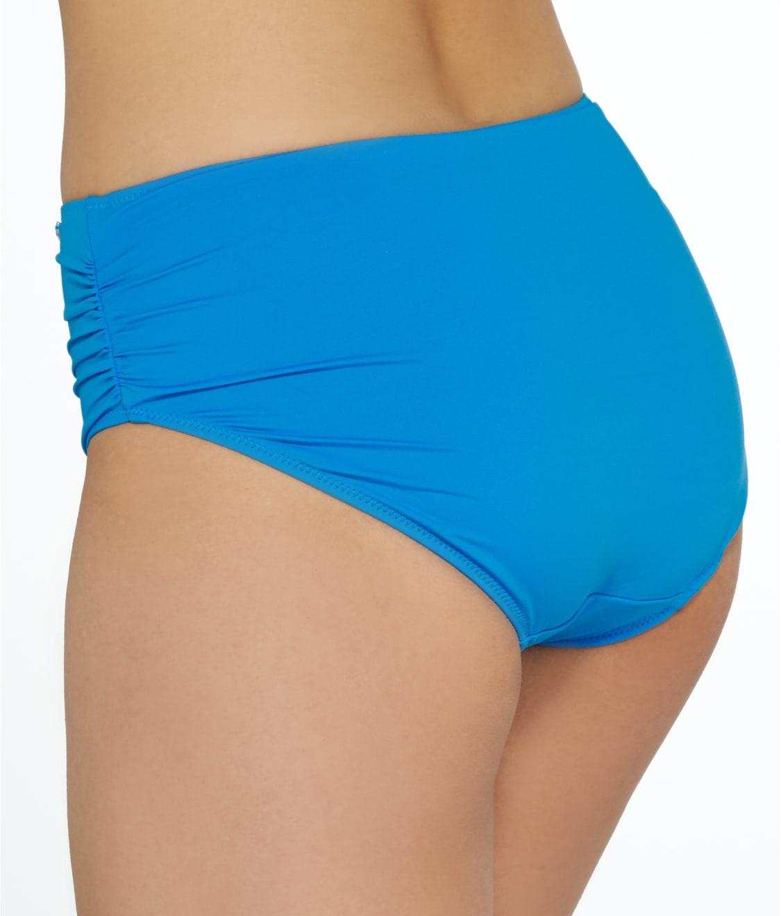 bf96e716afd33 See Versailles Deep Gathered Bikini Bottom in China Blue