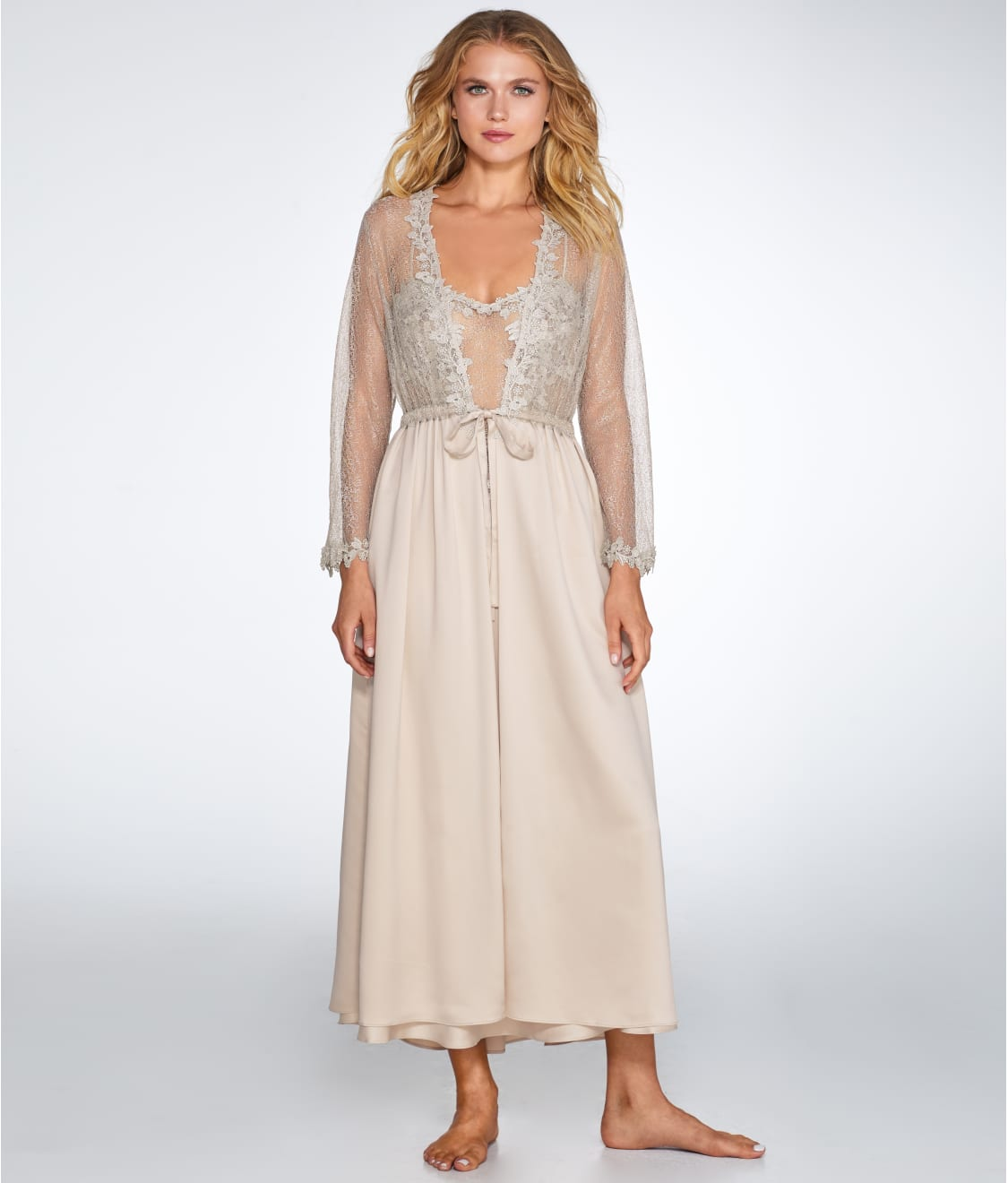 Flora Nikrooz Showstopper Charmeuse Gown Sleepwear 7533I at ...