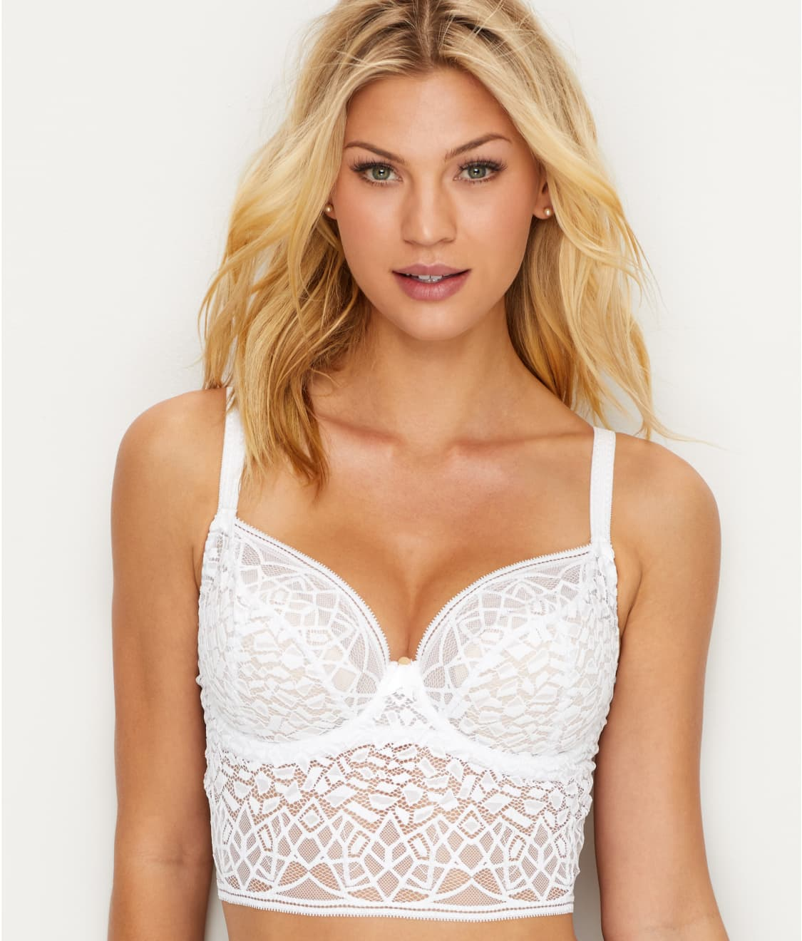 5545d0f389 See Soiree Lace Longline Bra in White