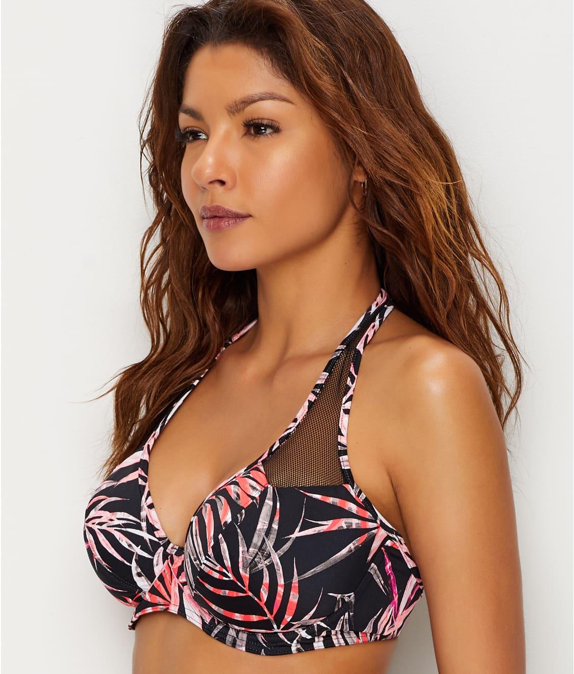 4f3606dcdb6d1 Freya Sunset Palm Halter Bikini Top | Bare Necessities (AS2891)