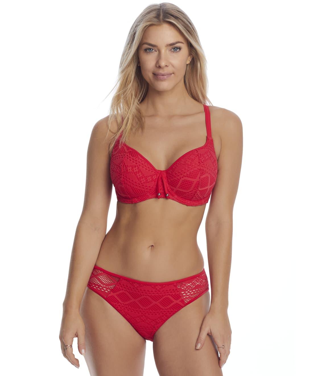 Freya Jewel Cove Bikini Top Sweetheart Padded Plunge UW 7231 Black Various NEW