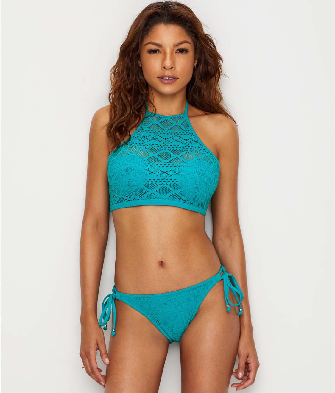 90e28e7609 See Sundance High Neck Underwire Bikini Top in Deep Ocean