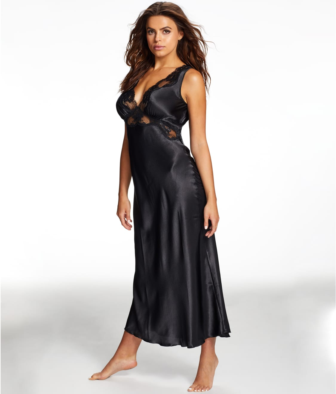 Frederick\'s of Hollywood Nicole Satin And Lace Night Gown | Bare ...