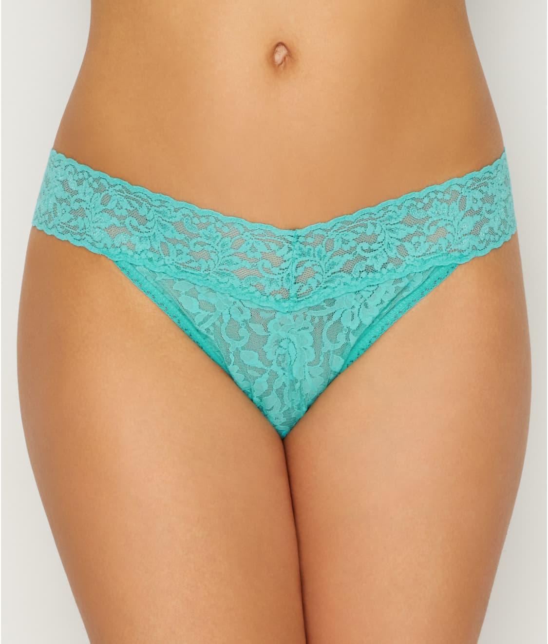 d08a11b77 See Plus Size Signature Lace Original Rise Thong in Seafoam