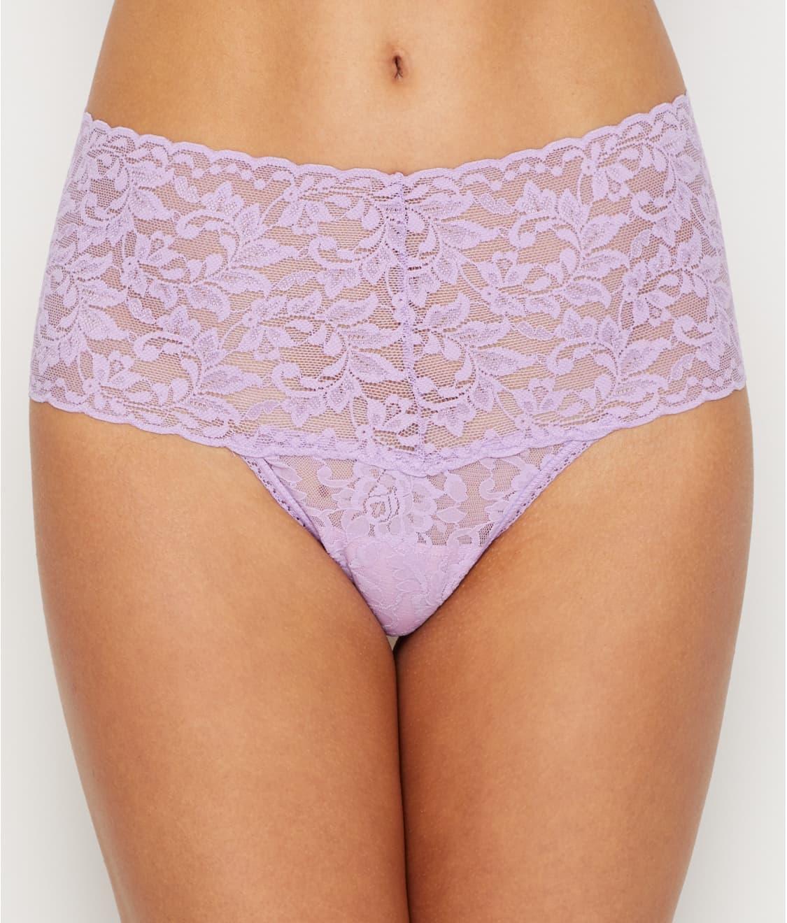 731ca405e See Signature Lace Retro Thong in Lavender Satchet