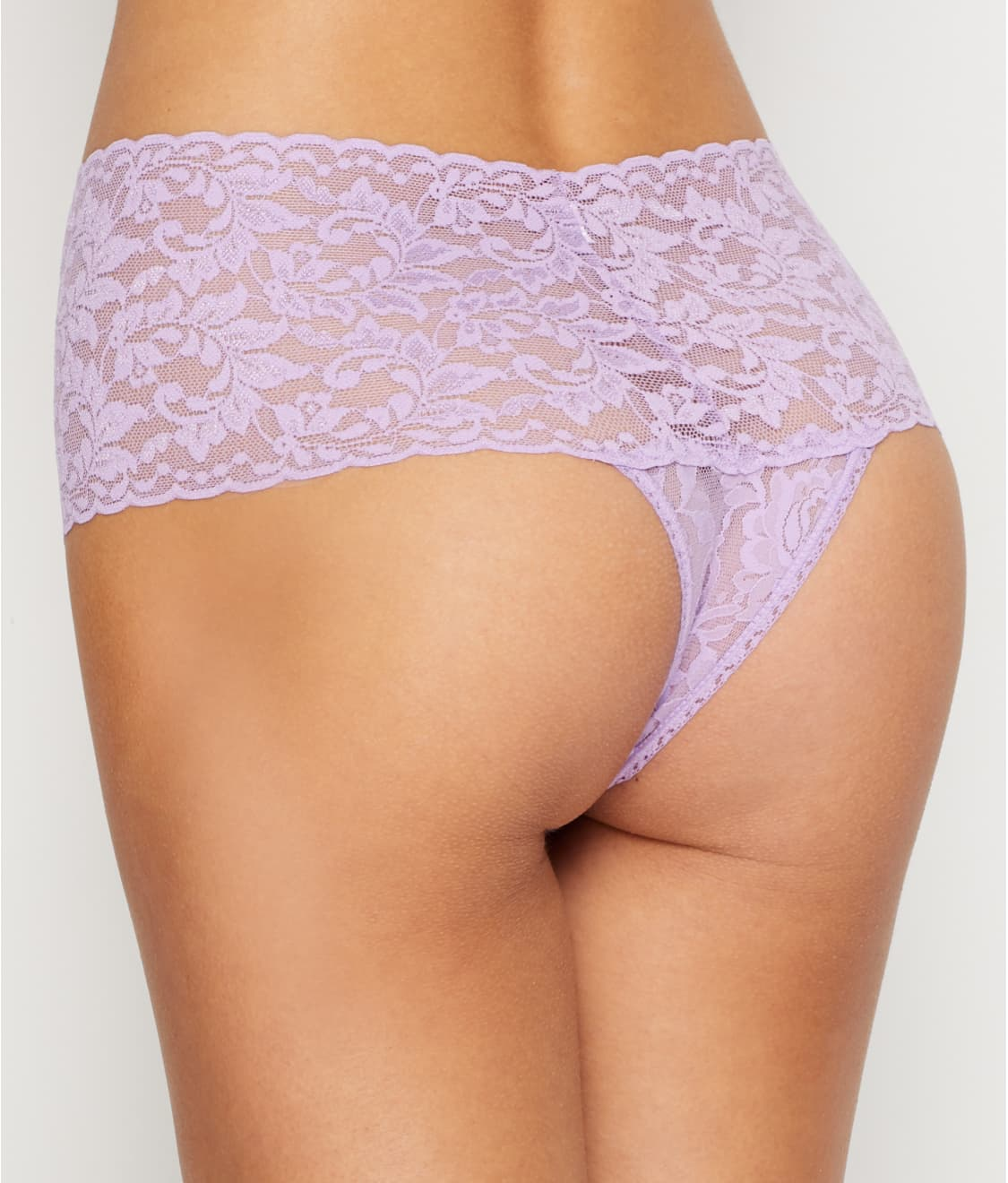 1a3d19032 See Signature Lace Retro Thong in Lavender Satchet