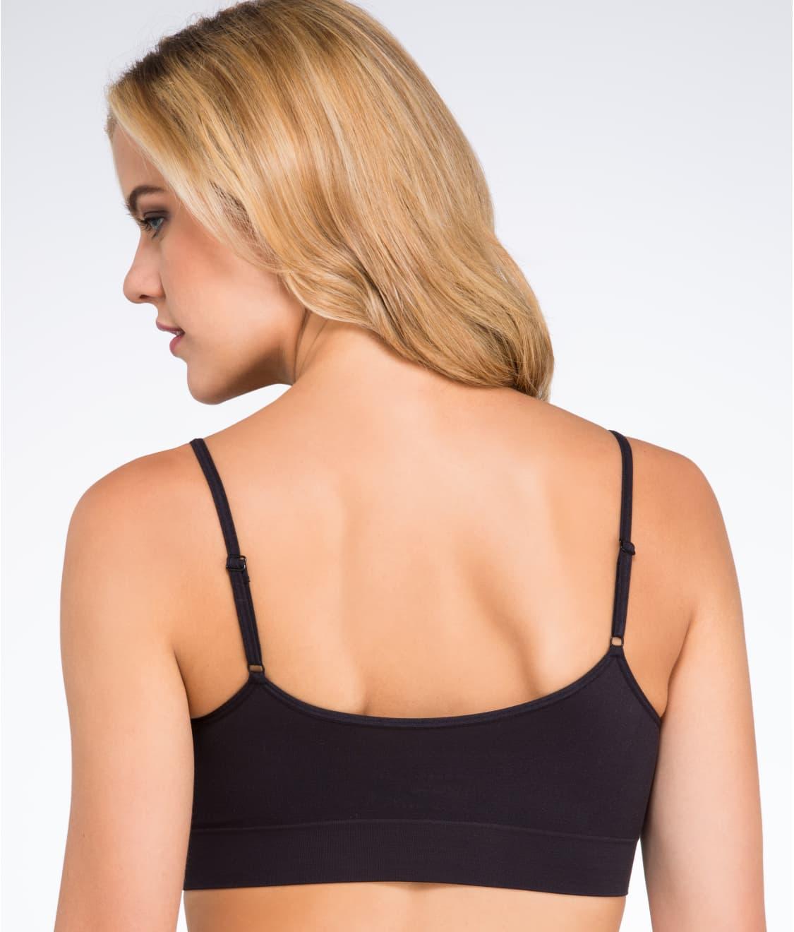 ce735bf7068 See Modern Micro Seamfree® Cami Strap Bralette in Black