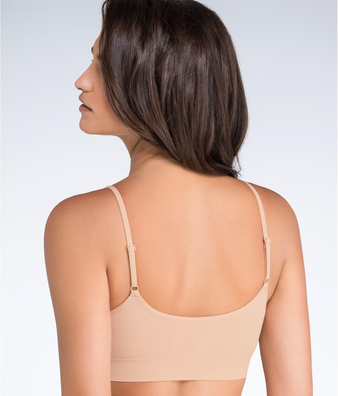 31772801ece See Modern Micro Seamfree® Cami Strap Bralette in Nude