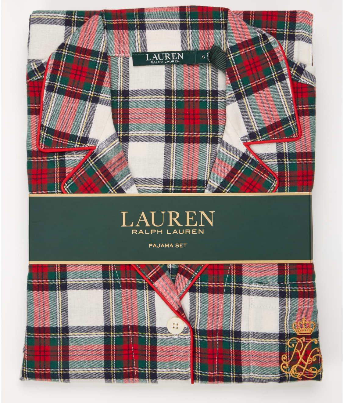 a57ad77c9a19d Lauren Ralph Lauren Classic Flannel Pajama Set