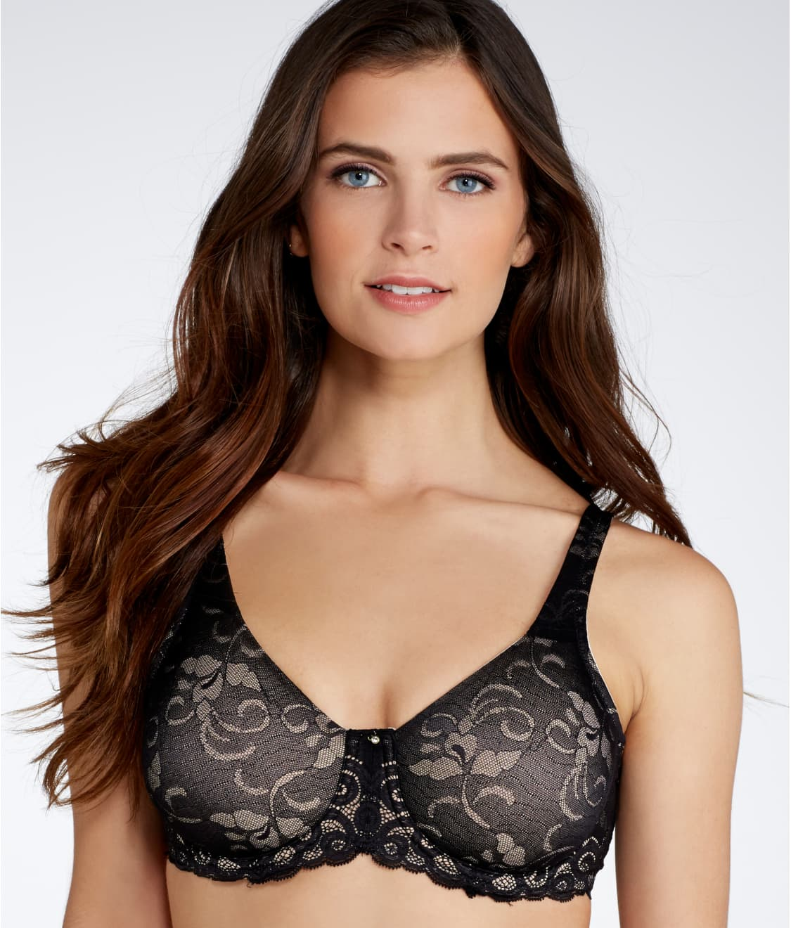 b482a61ff3 Lilyette Beautiful Support Lace Minimizer Bra
