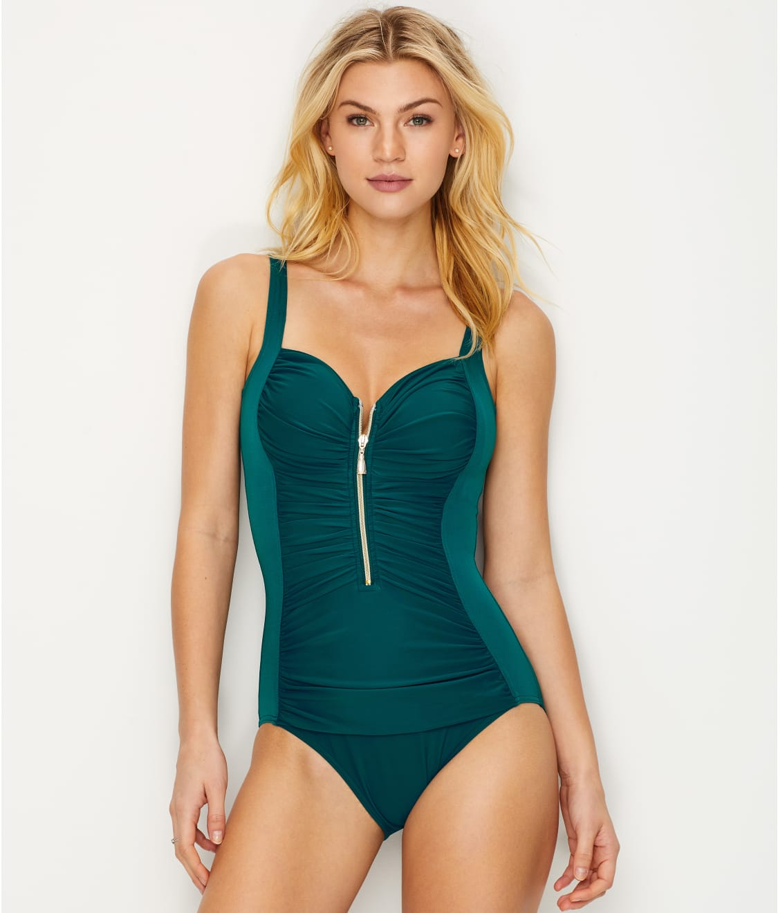 96d96a04a88 Miraclesuit So Riche Zip Code Wire-Free One-Piece