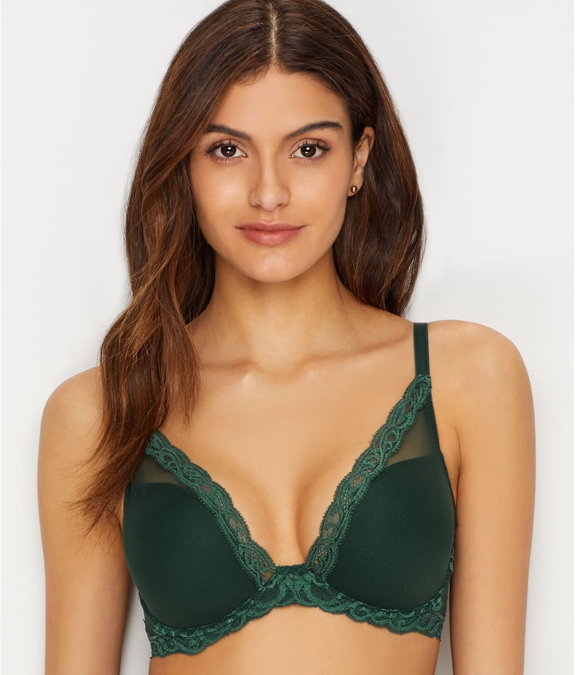 698358c9166f7 See Feathers Plunge Bra in Hunter Green