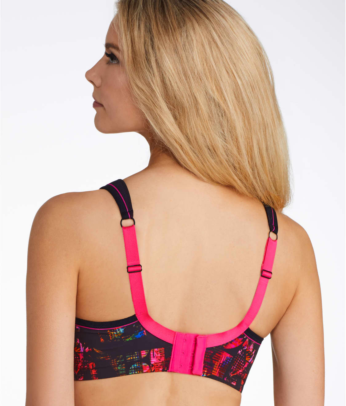 276c98204 See Ultimate High Impact Underwire Sports Bra in Neon Pixel Print