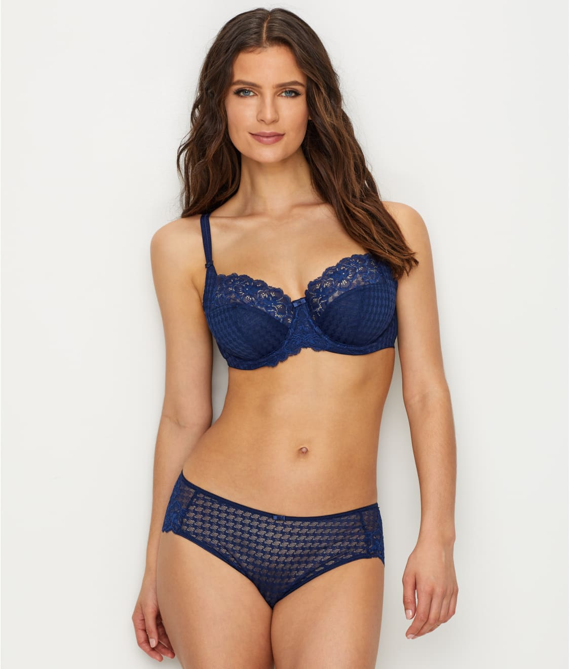 5c6b991e7b See Envy Balconette Bra in Navy