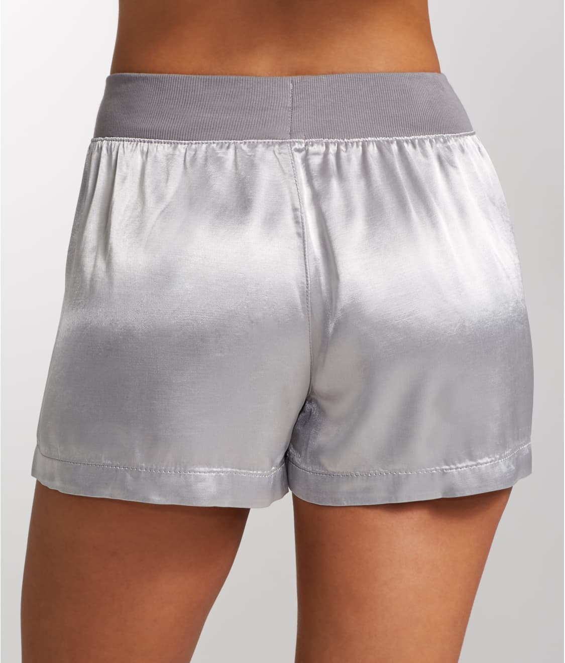 See Mikel Satin Sleep Boxer Shorts in Dark Silver 03f4378fb