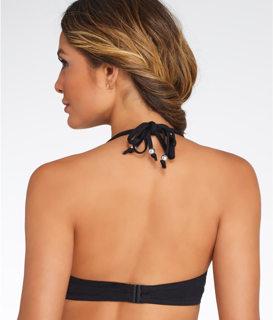 2b634d4267 See Puerto Rico Triangle Halter Bikini Top in Black