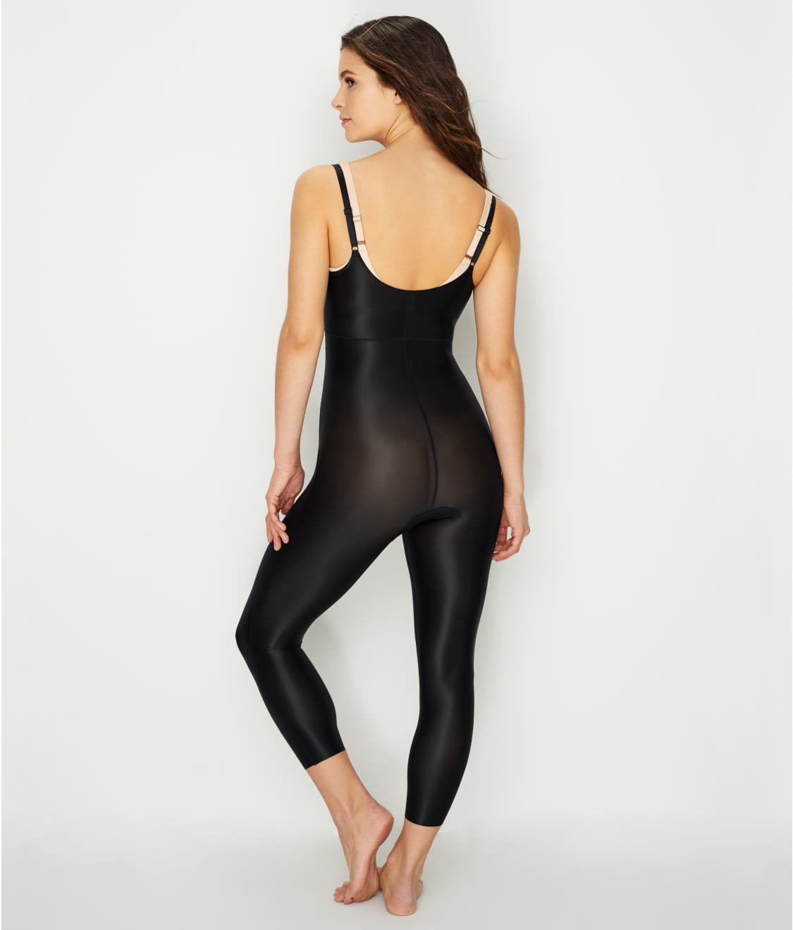 4f1487a79fa94 See Suit Your Fancy Medium Control Open-Bust Catsuit in Very Black