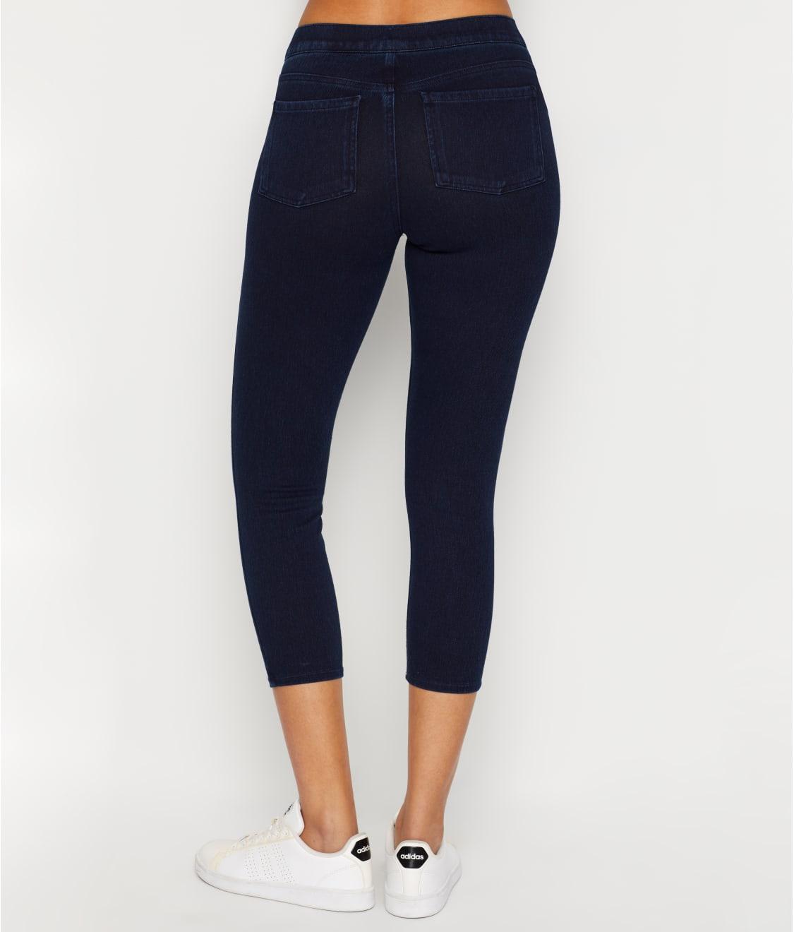 Spanx Cropped Flare White Denim Leggings 3306 Size Medium