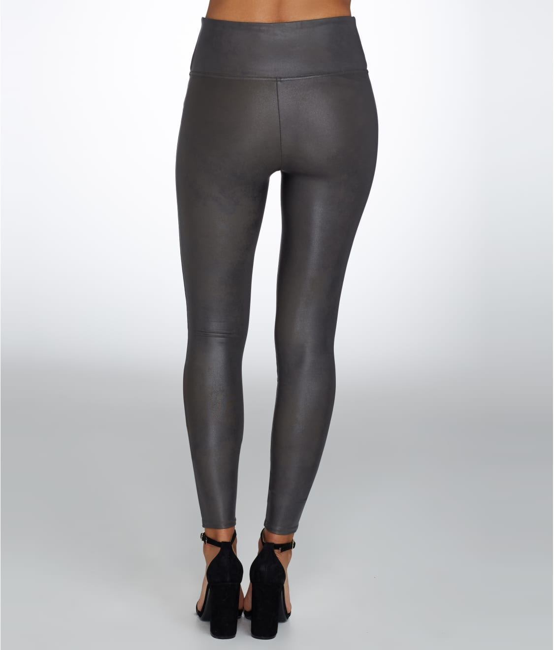 40fbe163d32 See Plus Size Ready-to-Wow Faux Leather Leggings in Gunmetal