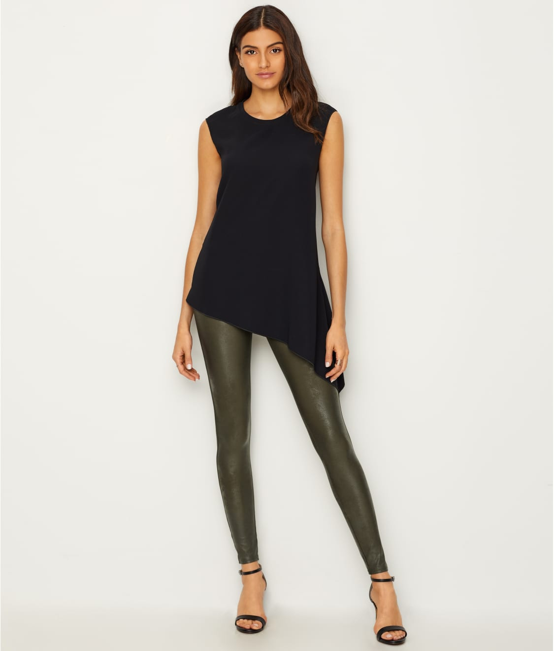 b7f744765cd See Ready-to-Wow Faux Leather Leggings in Rich Olive