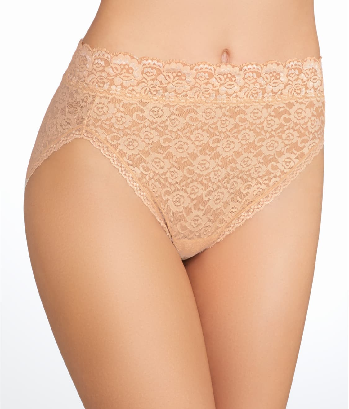 7254b0fcc27 See Flattering Lace Hi-Cut Brief in Lace Beige