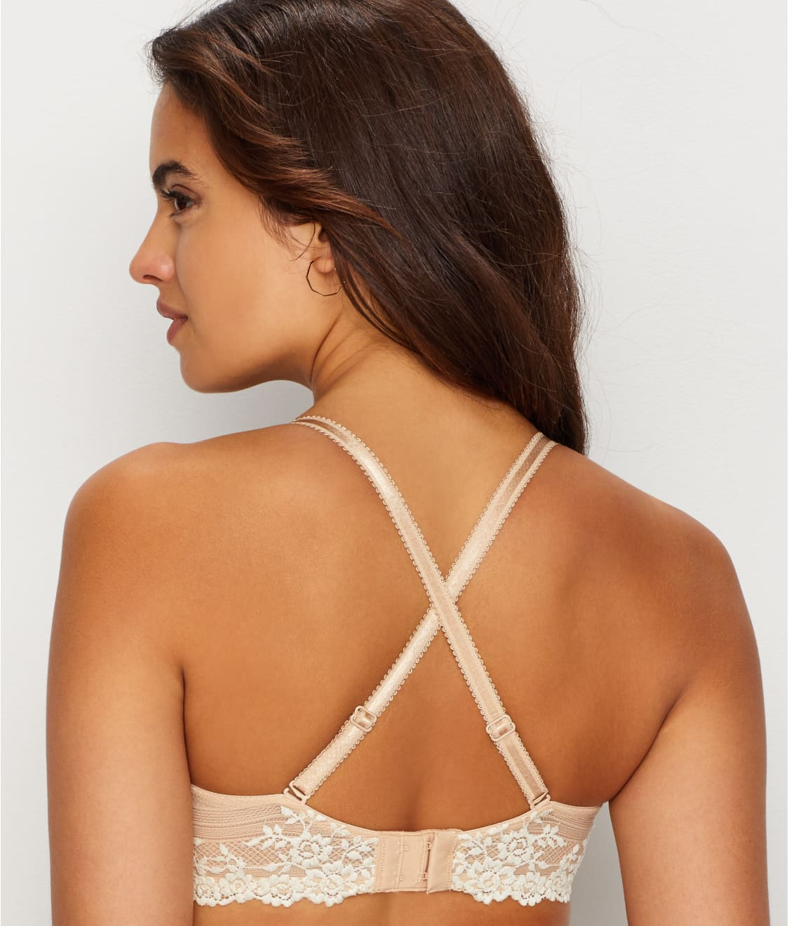 6027c0bccdb1d See Embrace Lace™ Plunge Bra in Sand   Ivory