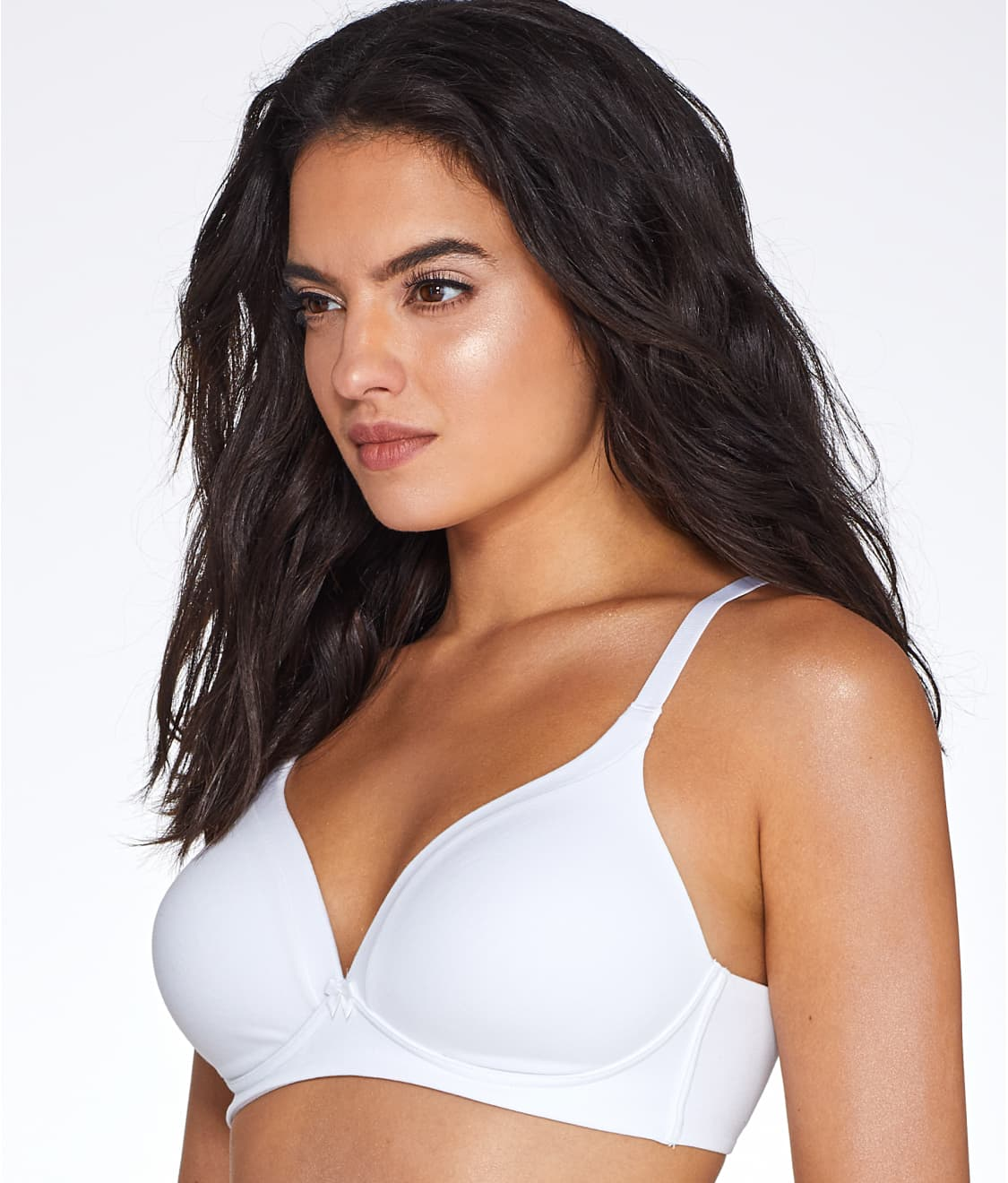 57a6649fa3 See Invisible Bliss Wire-Free Cotton Bra in White