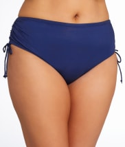24th & Ocean: Solid Tie-Side Bikini Bottom Plus Size